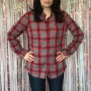 J Crew Factory The Perfect Shirt in plaid Small
